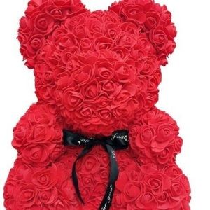 Other - Red Rose Teddy Bear Birthday Gift Anniversary 25cm